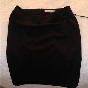 Black straight leg skirt